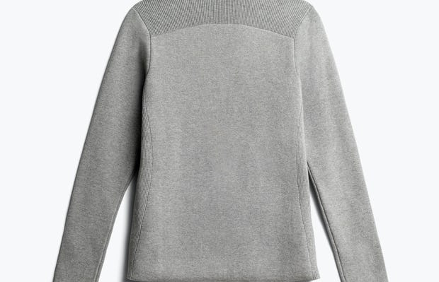 women's light grey atlas knit blazer back