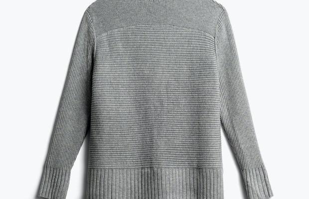 women's light grey composite merino cardigan back