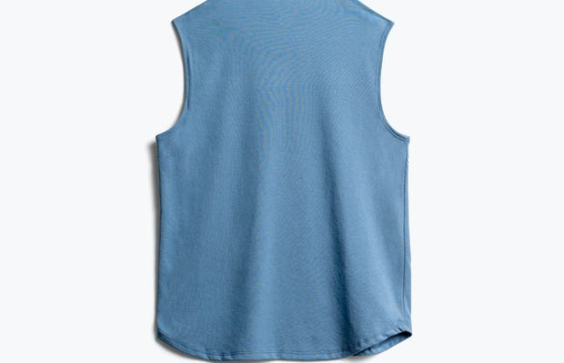 women's storm blue recycled composite merino tank back