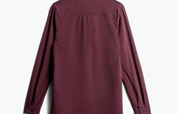 women's burgundy juno patch pocket blouse back