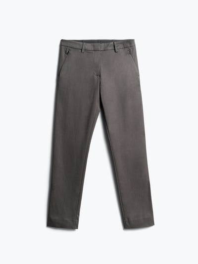 Womens Charcoal Heather Kinetic Pants Slim - Front View