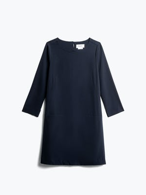 Womens Navy Swift 3-4 Sleeve Dress - Front View