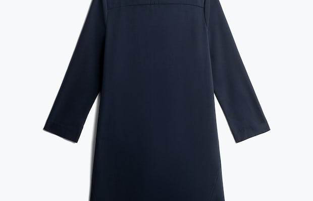 Womens Navy Swift 3-4 Sleeve Dress - Back View