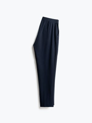 Womens Navy Swift Drape Pant - Half Back View