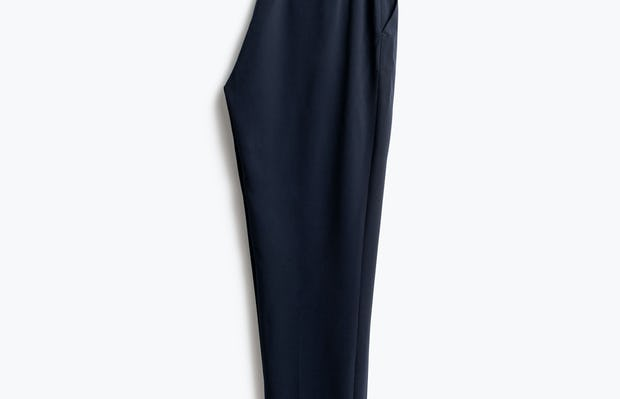 Womens Navy Swift Drape Pant - Half Back View