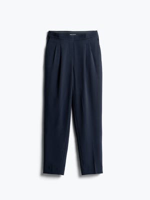 Womens Navy Swift Drape Pant - Front View