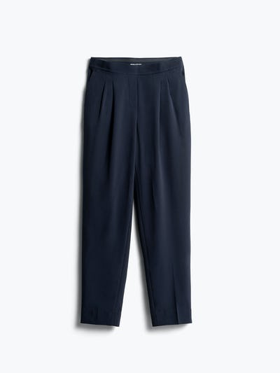 Womens Navy Swift Drape Pant - Front View