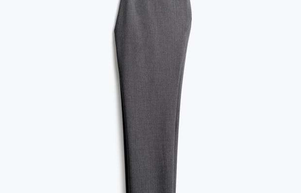 Womens Charcoal Heather Velocity Crop Pant - Half Back View