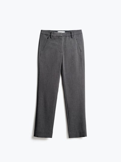 Womens Charcoal Velocity Crop Pant - Front View