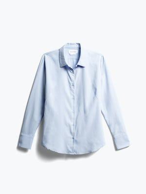 Women's Light Blue Aero Zero Dress Shirt Front