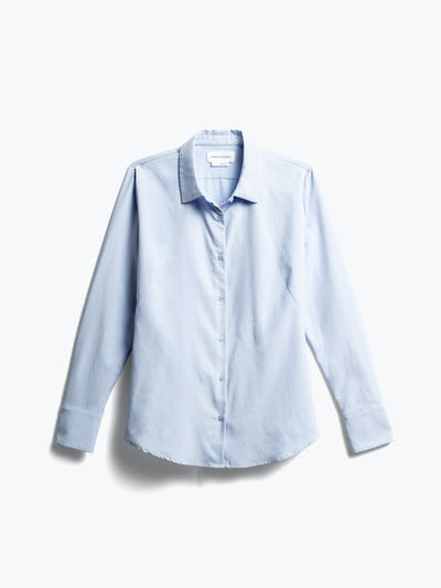 Women's Light Blue Aero Zero Dress Shirt Front
