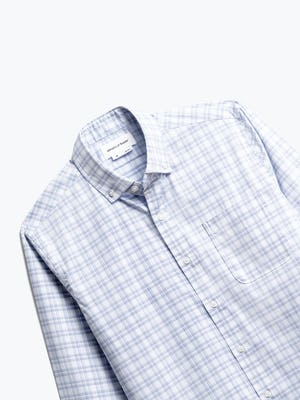Front of Men's Aero Button Down in Blue Dot Matrix Front