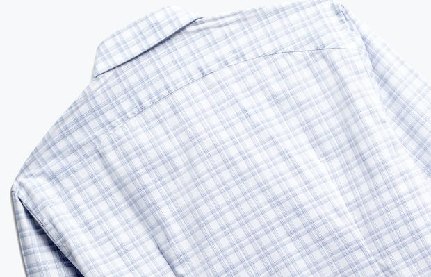 Close up of Men's Aero Button Down Blue Dot Matrix Back