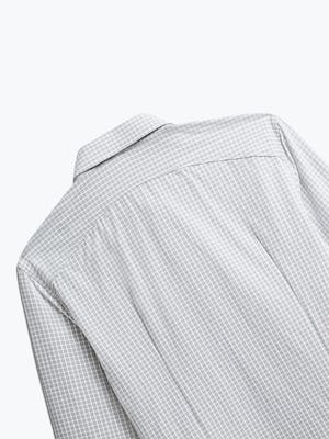 Close up of Mens Grey Grid Aero Zero Dress Shirt - Back