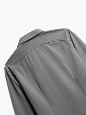 close up of men's granite oxford brushed apollo dress shirt shot of back