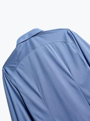 close up of men's ocean oxford brushed apollo dress shirt shot of back