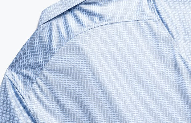 close up of men's blue degree apollo polo shot of back