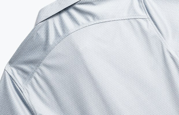 close up of men's grey degree apollo polo shot of back