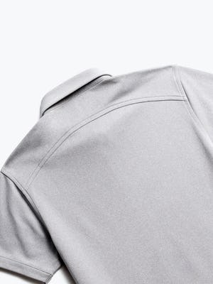 close up of men's heather grey apollo polo shot of back