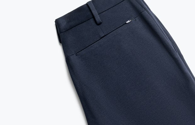 close up of men's navy fusion pant folded