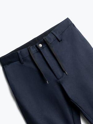 close up of men's navy fusion pant shot of front