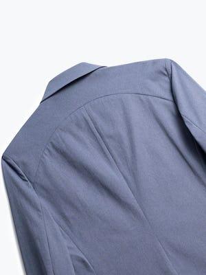 close up of men's indigo heather kinetic blazer shot of back