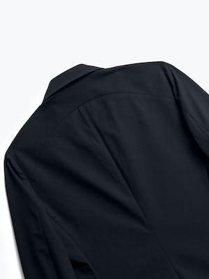 close up of men's black kinetic blazer shot of back