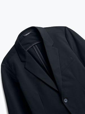 close up of men's black kinetic blazer shot of front