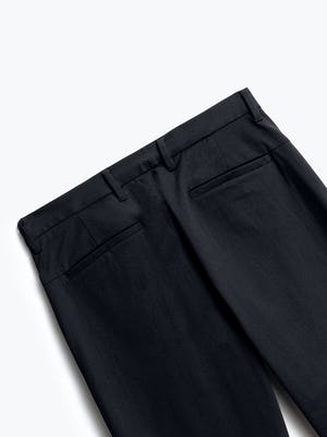 close up of men's black kinetic pant shot of back