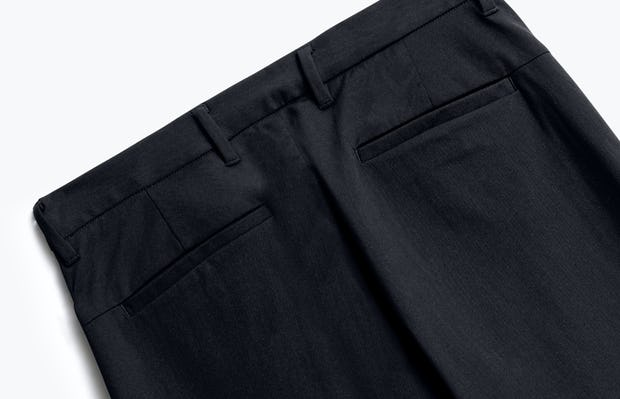 close up of men's black kinetic pant shot of back