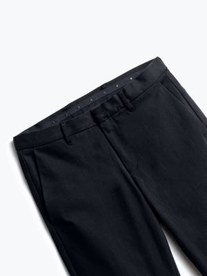 close up of men's black kinetic pant shot of front