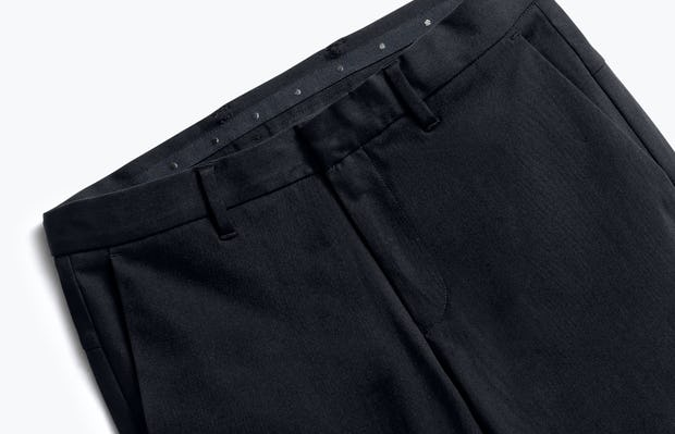 close up of men's black kinetic pant shot of front