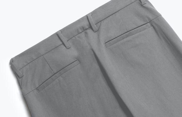 close up of men's slate grey kinetic pant shot of back