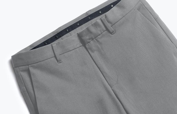 close up of men's slate grey kinetic pant shot of front