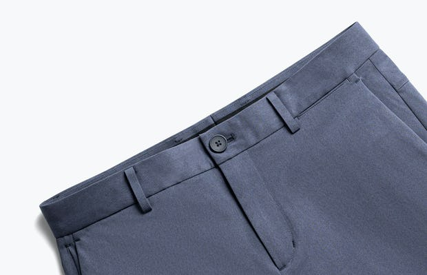 close up of men's slate blue kinetic pant shot of front