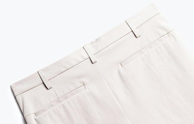 close up of men's light khaki men's momentum chino short shot of back