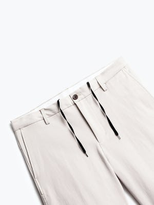 close up of men's light khaki men's momentum chino short shot of front