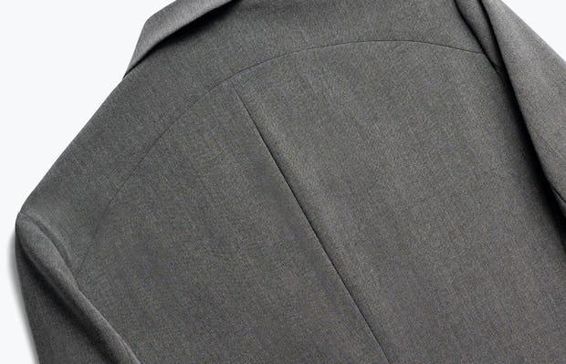 Close up of Mens Charcoal Velocity Blazer - Back