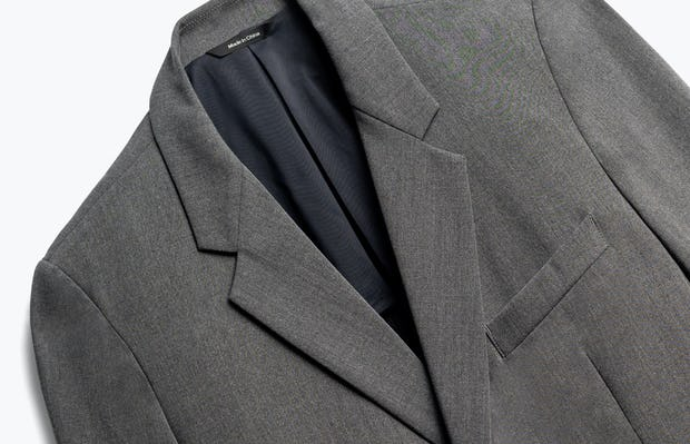 Close up of Mens Charcoal Velocity Blazer - Front