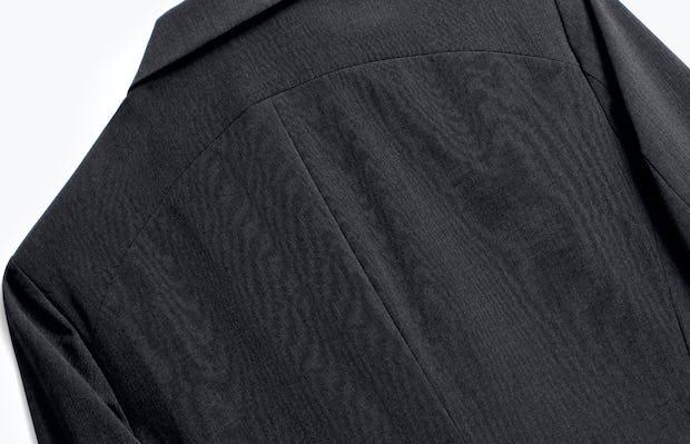 Close up of Mens Dark Charcoal Velocity Blazer - Back