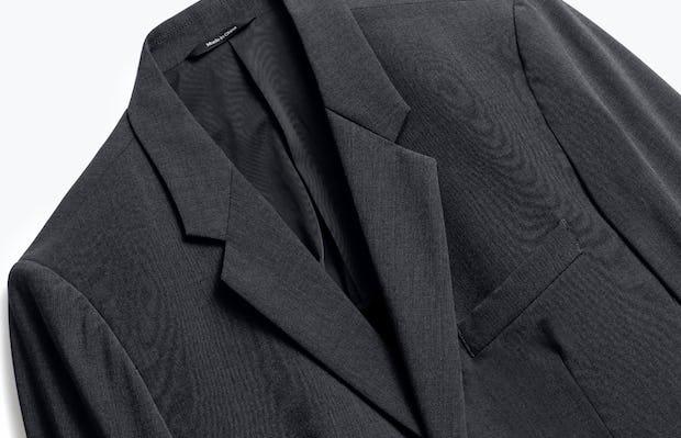 Close up of Mens Dark Charcoal Velocity Blazer - Front