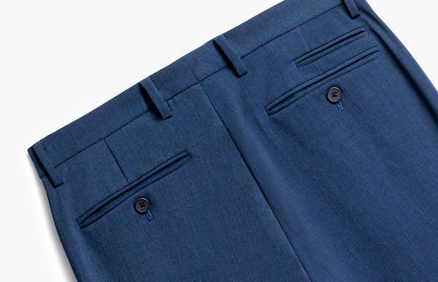 Close up of Mens Indigo Heather Velocity Pants - Back