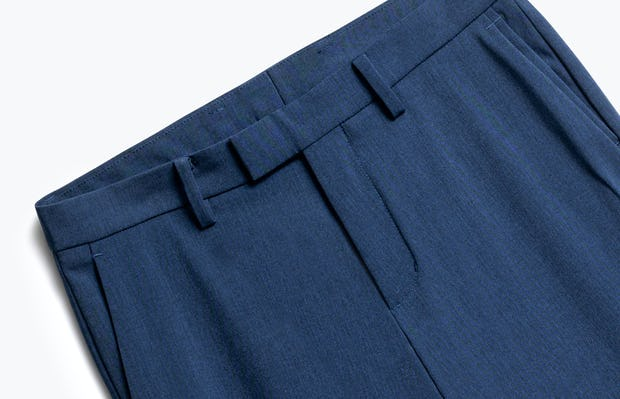 Close up of Mens Indigo Heather Velocity Pants - Front