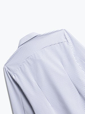 Close up of Womens Blue Stripe Aero Zero Dress Shirt - Back
