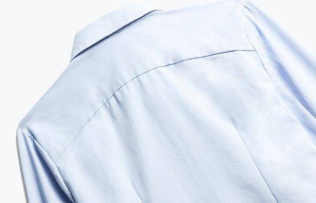 Close up of Womens Light Blue Aero Zero Dress Shirt - Back