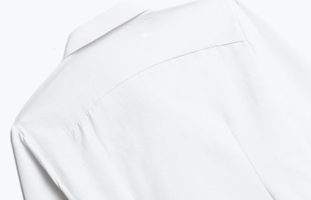 Close up of Womens White Aero Zero Dress Shirt - Back