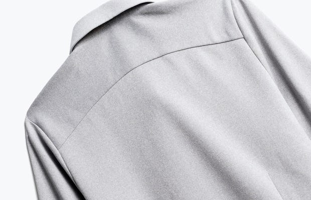 Close up of Womens Grey White Heather Apollo Tailored Shirt - Back