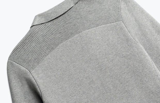 Close up of Womens Light Grey Atlas Knit Blazer - Back