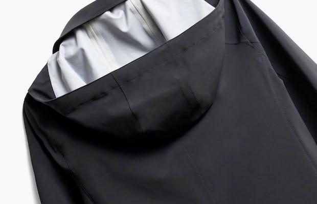 Close up of Womens Black Doppler Mac Jacket - Back