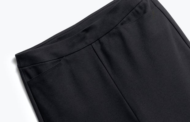 Close up of Womens Black Fusion Ponte Pant - Front